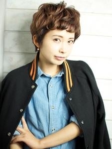 TOMBOYみたいなかわいさ♪外国人風キュートなショートスタイル☆|BEKKU hair salon 恵比寿店のヘアスタイル