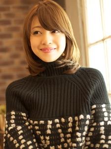 フワっとまとまる♪うるつやセミディ☆|BEKKU hair salon 恵比寿店のヘアスタイル