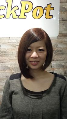 前下がりアシメーションボブ☆|Cut House Jackpotのヘアスタイル