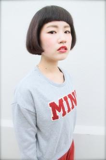 ミニマム黒髪ボブ◎|tranq hair design cram hair designのヘアスタイル