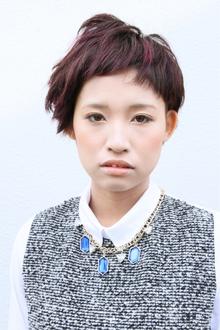 旬のバイオレットカラー☆ショートスタイル|tranq hair design cram hair designのヘアスタイル