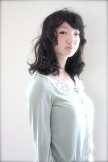 フェイスカールミディ|tranq hair design cram hair designのヘアスタイル
