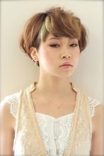 ミルフィーユカラーショート|tranq hair design cram hair design 川端 悠介のヘアスタイル