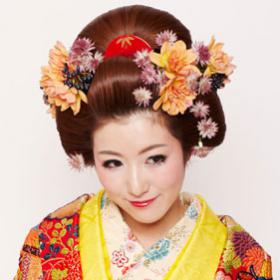 日本髪結上げ