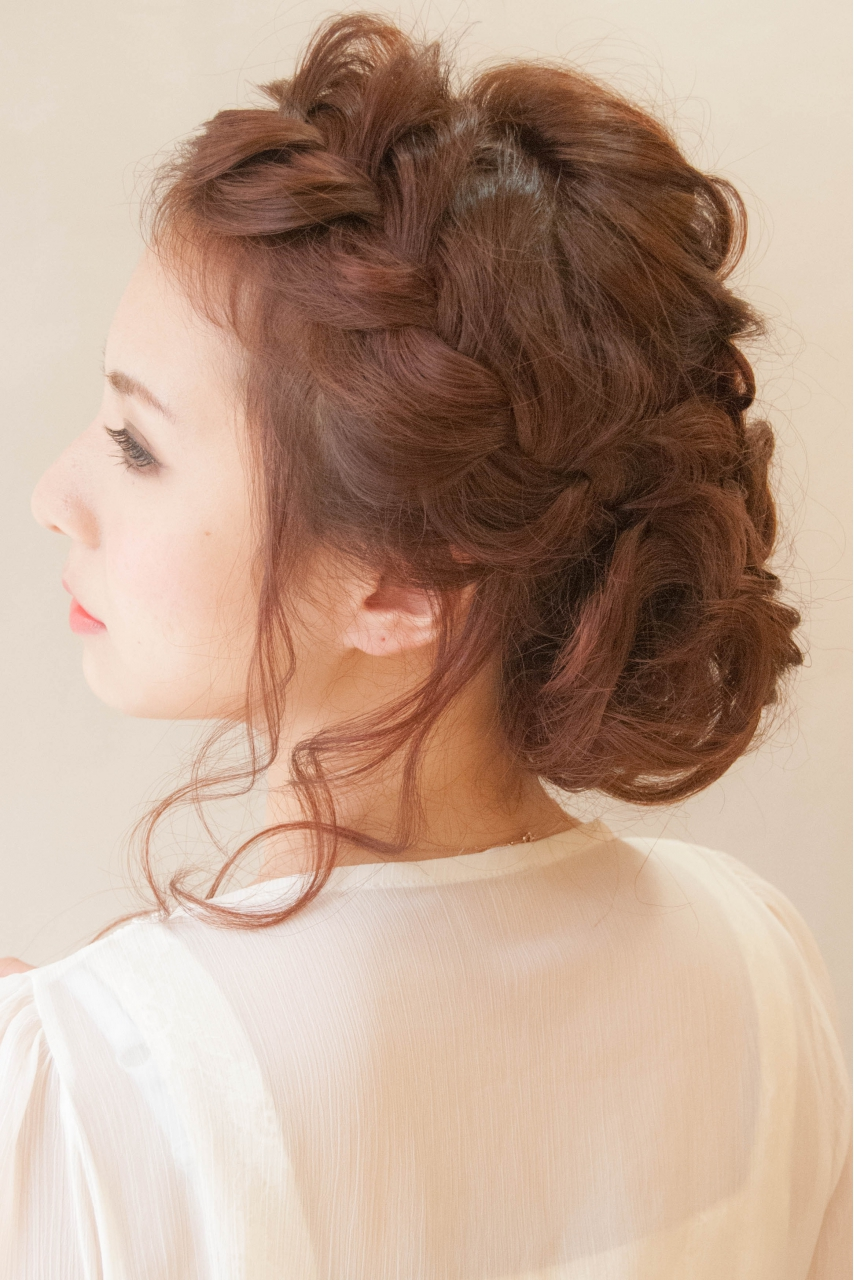 hair style at home for ざっくり無造作アップ 結婚式 二次会に 元町 石川町の美容室 hair coucouのヘアスタイル 7620