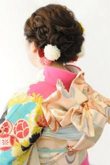 華やか振袖着付☆ヘアセット★|brotoのヘアスタイル