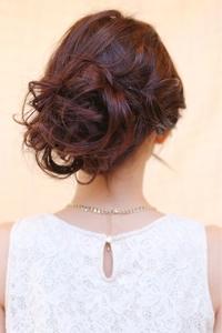 ルーズなまとめ髪★結婚式、二次会に♪