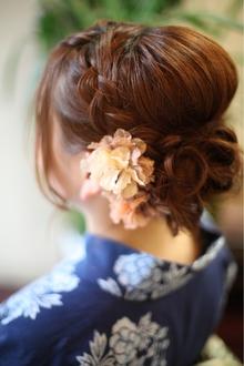 人気NO1 ☆編み込みアップスタイル☆ 結婚式&二次会アレンジ♪|brotoのヘアスタイル
