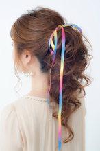 ポニーテール風ルーズアップ♪|broto 島森 和子のヘアスタイル