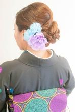 着物編み込みアップ&着付け★|broto 着付け師のヘアスタイル