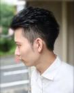 清潔感と男らしさを出すショートヘア