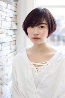 透け感シンプルボブ|ROOTSのヘアスタイル