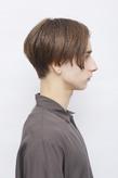 前髪とトップが長めのマッシュボブ スリークな質感が決め手