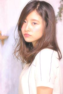 外国人風 フロントかきあげ・耳掛け女子|Laissez 新松戸duex店のヘアスタイル