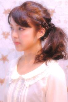 3連編み込みアレンジ|Laissez 新松戸duex店のヘアスタイル