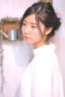 斜めバング・レトロ風アレンジ|Laissez 新松戸duex店のヘアスタイル