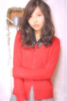 外国人風フロントかきあげ・ラフパーマ|Laissez 新松戸duex店のヘアスタイル