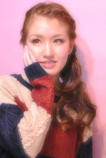 編み込みニットスタイル|Laissez 新松戸duex店のヘアスタイル
