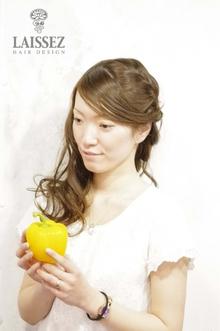 大人かわいい斜めバング・ヘアアレンジ♪|Laissez 新松戸duex店のヘアスタイル