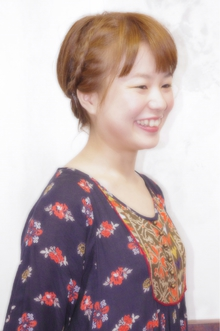 ショート・裏編みこみ・アレンジ|Laissez 新松戸duex店のヘアスタイル