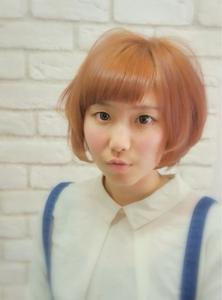 ショートバングカジュアルキュートボブ☆|Hair House Luana  by NYNYのヘアスタイル
