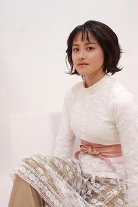 シースルー前髪のカジュアルスイングボブスタイル☆