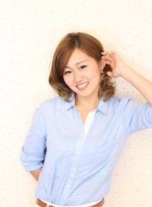 カッコカワイイ☆耳かけミディスタイル|RULA hairのヘアスタイル