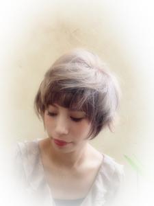 スモーキーショート|Cadre 新小岩店のヘアスタイル