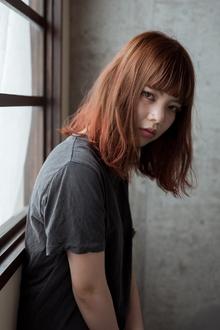 外国人風 / 切りっぱなしLOB×シアーカッパー|Coletteのヘアスタイル