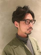 メンズ ラフウェーブ ミディ|COLETTEのヘアスタイル