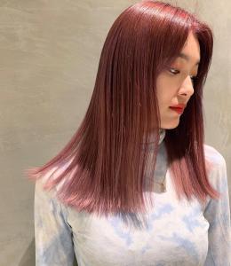 外国人風ロング×暖色カラー|Coletteのヘアスタイル