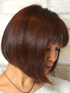 前下りボブ + インナーグラデーション|Hair Lounge Ayung(ヘアラウンジ アユン)のヘアスタイル