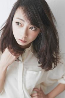 【ゆるかき上げミディ♪】ダークスモキーパープル fino 銀座のヘアスタイル