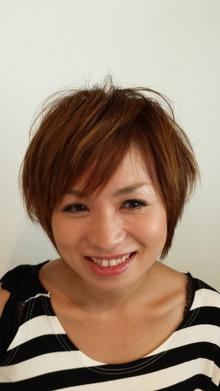 ひし形シルエットのナチュラルショート☆|RECIEL 岐阜店のヘアスタイル