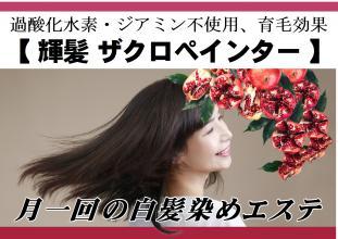 ノンジアミン・過酸化水素水不使用、髪質改善の白髪染め『輝髪 ザクロペインター』