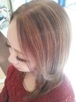 ミルクティーアッシュ+ローライト|美容室 アシックのヘアスタイル