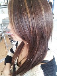 ハイライト&スワロフスキーエクステンション|美容室 アシックのヘアスタイル