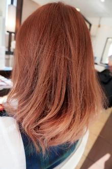 ピンクグラデーション|美容室 アシックのヘアスタイル