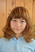 大人めガーリーミディアム|Hair's和 -なごみ- 下川 真一のヘアスタイル
