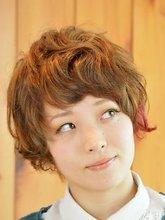 ふんわりカジュアルなガーリーショート|Hair's和 -なごみ- 下川 真一のヘアスタイル