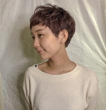 ベビーショートカット×くすみピンク|Atoroのヘアスタイル