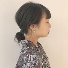 脱力系お団子アレンジ|Atoroのヘアスタイル