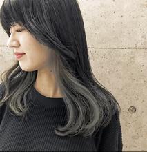 インナーカラー×カーキアッシュ☆|Atoro 野田 能宏のヘアスタイル