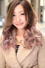 【b-arts】アッシュグレージュ+ピンク ☆b-arts|hair brand b-artsのヘアスタイル