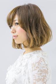 【b-arts】ベージュグラデーション☆ミディアムボブ|hair brand b-artsのヘアスタイル