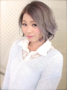 【b-arts】シルバーフワゆるボブ|hair brand b-artsのヘアスタイル