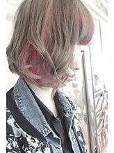【b-arts】ポイントカラー|hair brand b-artsのヘアスタイル