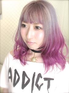 【b-arts】ピンクグラデーションカラー|hair brand b-artsのヘアスタイル