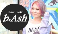 hair b:Ash  | ヘアー ビーアッシュ  のロゴ