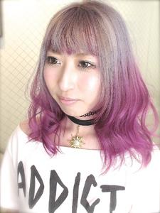 【アメ村】ホワイトアッシュ×ピンクヴァイオレット|hair b:Ashのヘアスタイル